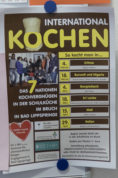 Plakat Internationales Kochen 2015