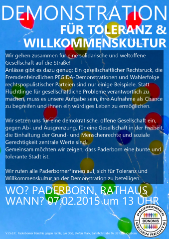 Flyer zur Demonstration