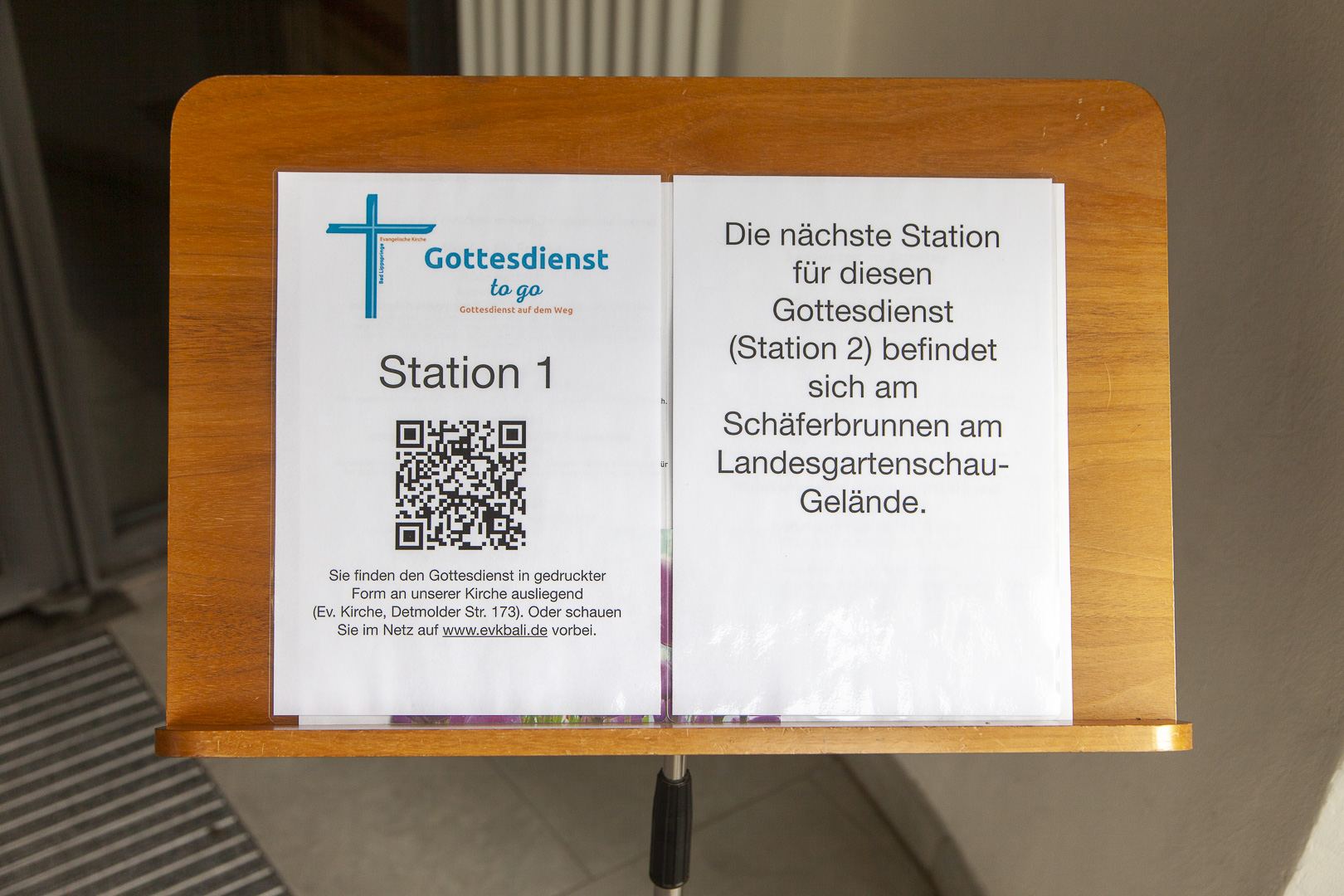 Station 1 - Begrüßung in der Kirche
